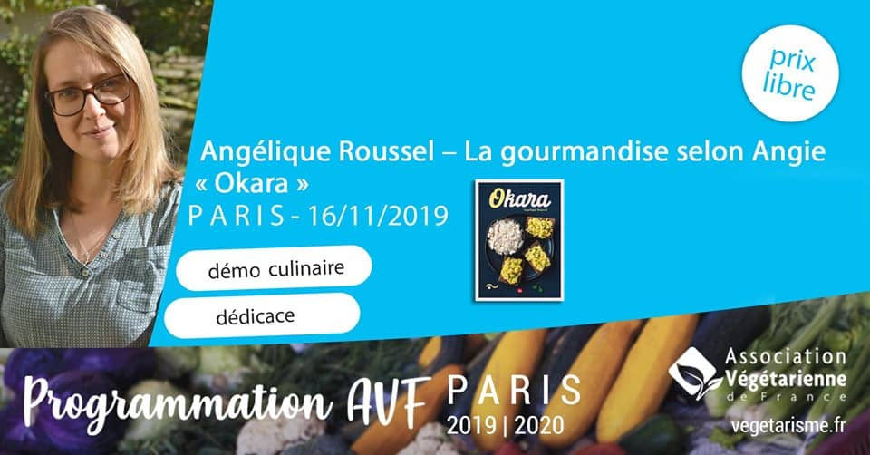 Démo culinaire et dédicace d'Angélique Roussel alias La gourmandise selon Angie 1