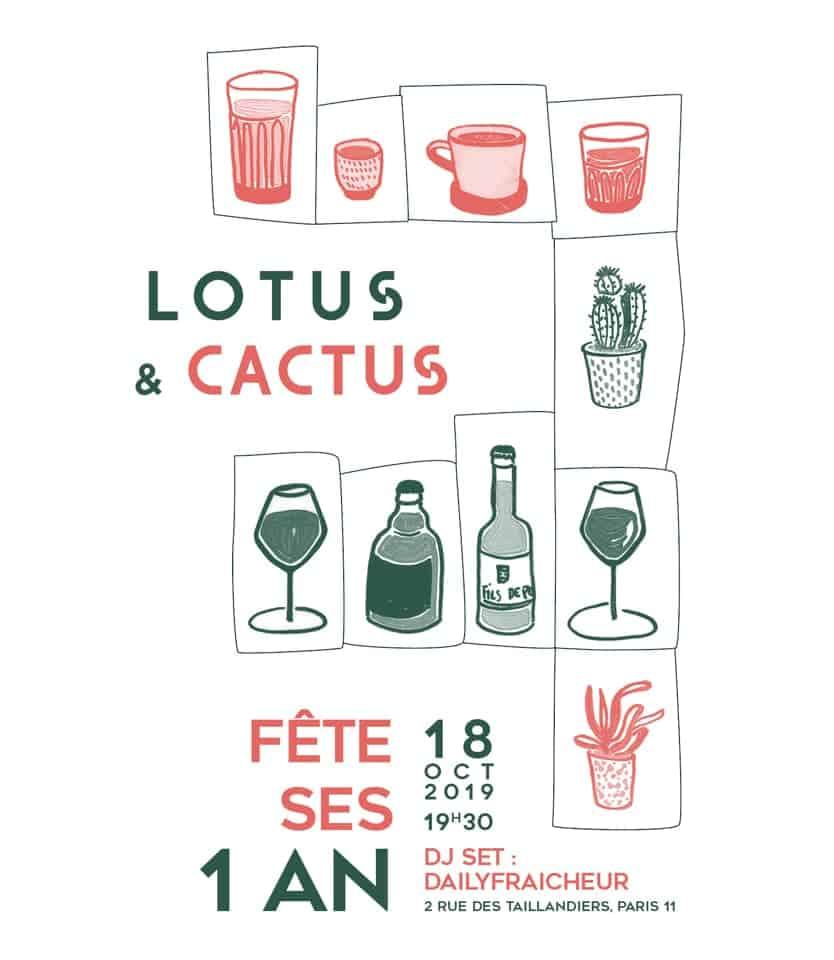 Lotus & Cactus - Fête les 1 an à Paris 1
