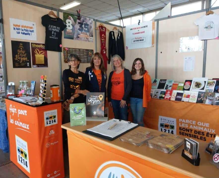 Stand L214 au salon Bio et Harmonies 2019 - Parc des expositions Montpellier 1