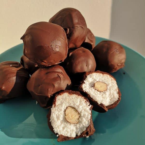 Boules coco-chocolat au cœur de noisette 1