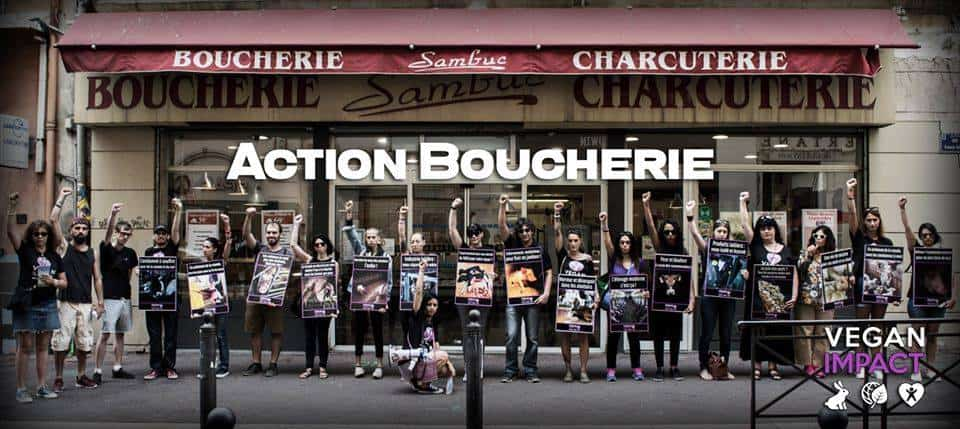 Action Boucherie Vegan Impact - Marseille 1