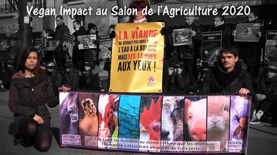 Action Vegan Impact au salon de l'agriculture Paris 1