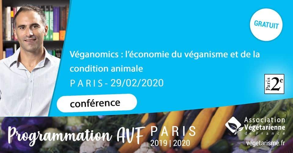Conférence «Véganomics : économie, véganisme, condition animale» Paris