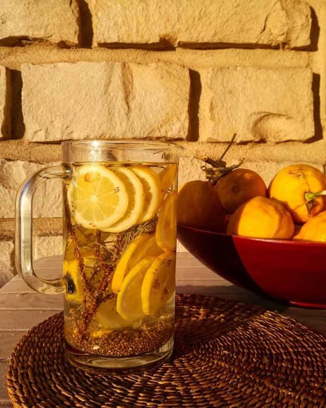Boisson-sans-alcool-rafraîchissante-aromatisée-citron-graines-de-chia